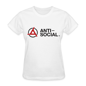Anti-Social White (Womens Tee) - Women's T-Shirt