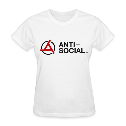 Anti-Social White (Womens Tee) - Women's T-Shirt
