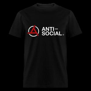 Anti-Social Black (Mens Tee) - Men's T-Shirt