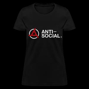 Anti-Social Black (Womens Tee) - Women's T-Shirt