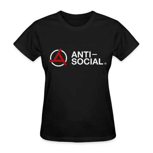 Anti-Social Black (Womens Tee) - Women's T-Shirt