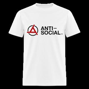 Anti-Social White (Mens Tee) - Men's T-Shirt
