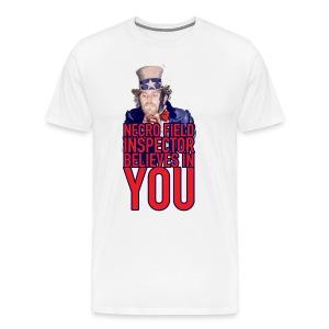 NECRO FIELD INSPECTOR BELIEVES IN YOU - NECRO FACE - Men's Premium T-Shirt