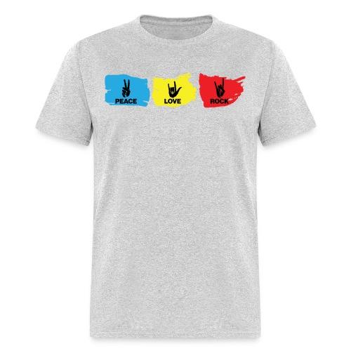 Peace Love Rock - Men's T-Shirt