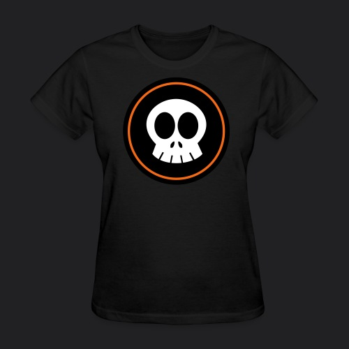 SkullSpace Logo - Orange Ring - Women's T-Shirt