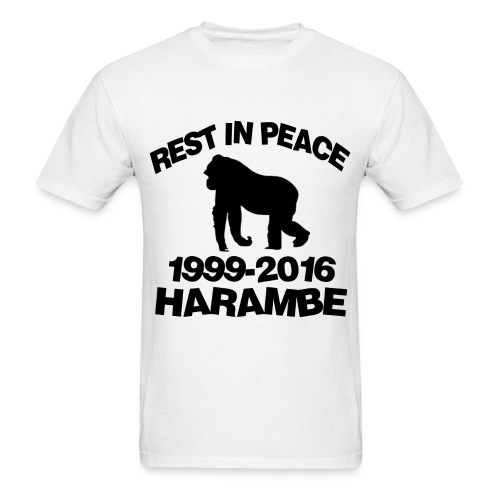*LARGE* Mens Harambe T-Shirt - Men's T-Shirt
