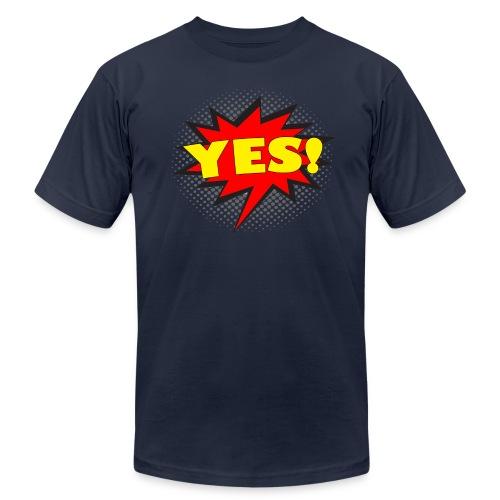 YES! Comic Action Bubble Men's T-Shirt - Men's Fine Jersey T-Shirt
