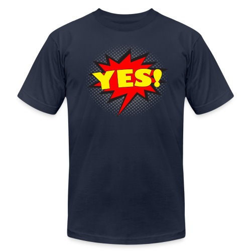 YES! Comic Action Bubble Men's T-Shirt - Men's  Jersey T-Shirt