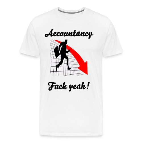 love accountigng. - Men's Premium T-Shirt