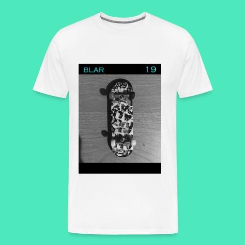SKATEBLAR WHITE - Men's Premium T-Shirt