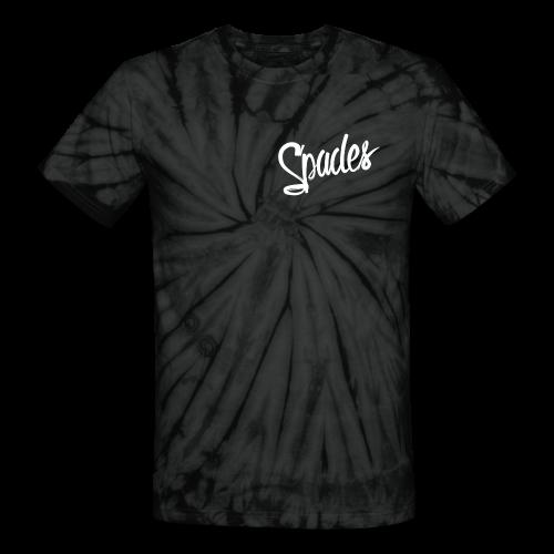 Uni Sex Grey Tie-Die Classic Spades T-Shirt - Unisex Tie Dye T-Shirt