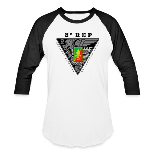2e REP Badge - Foreign Legion - White Baseball T-Shirt - Baseball T-Shirt