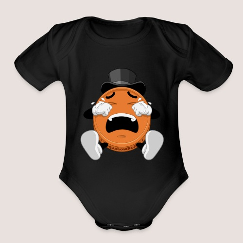 Baby's BONUS GUARANTEE Penny One Piece, No Text - Organic Short Sleeve Baby Bodysuit