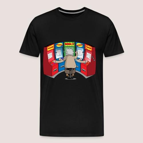 Men's Big & Tall POWER SLOTTER Tee, No Text - Men's Premium T-Shirt