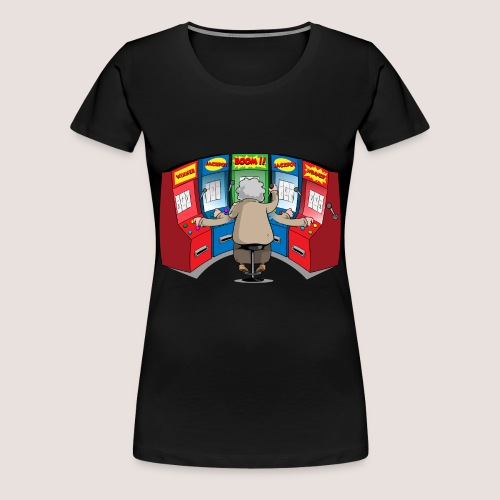 Women's Plus Size POWER SLOTTER Tee, No Text - Women's Premium T-Shirt
