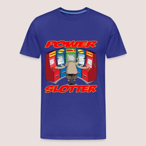 Men's Big & Tall POWER SLOTTER Tee, w/ Text - Men's Premium T-Shirt