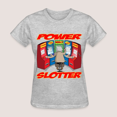 Women's POWER SLOTTER Tee, w/ Text - Women's T-Shirt