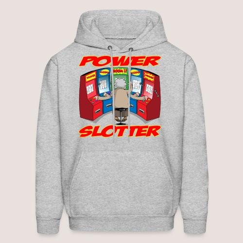 POWER SLOTTER Hoodie, w/ Text - Men's Hoodie