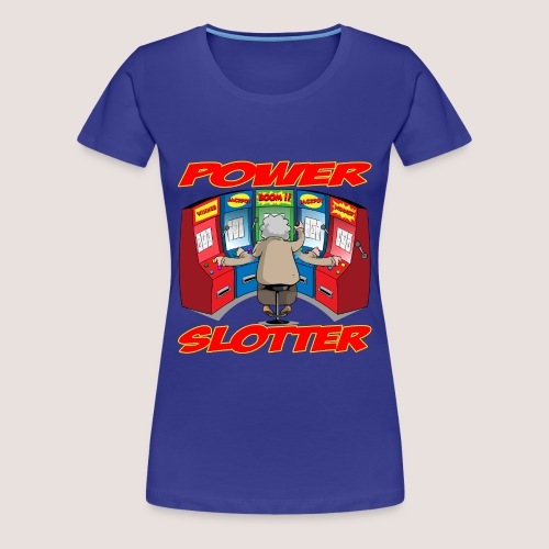 Women's Plus Size POWER SLOTTER Tee, w/ Text - Women's Premium T-Shirt