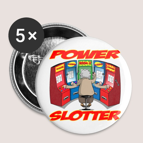 5 POWER SLOTTER BUTTONS - Buttons large 2.2'' (5-pack)