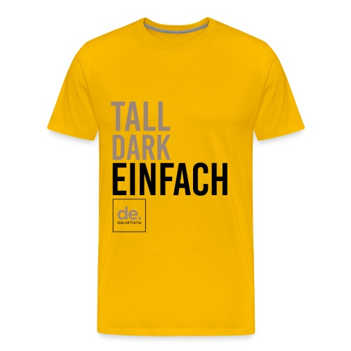 Men's Yellow Tall Dark Einfach - Men's Premium T-Shirt