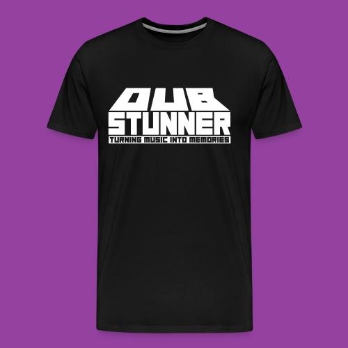 Men's Premium Black T-Shirt (White Text Logo) - Men's Premium T-Shirt