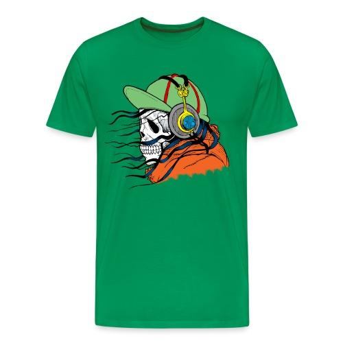 Skull Hipster Tshirt - Men's Premium T-Shirt