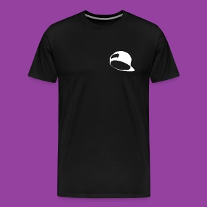 Men's Premium Black T-Shirt (White Hat Logo) - Men's Premium T-Shirt