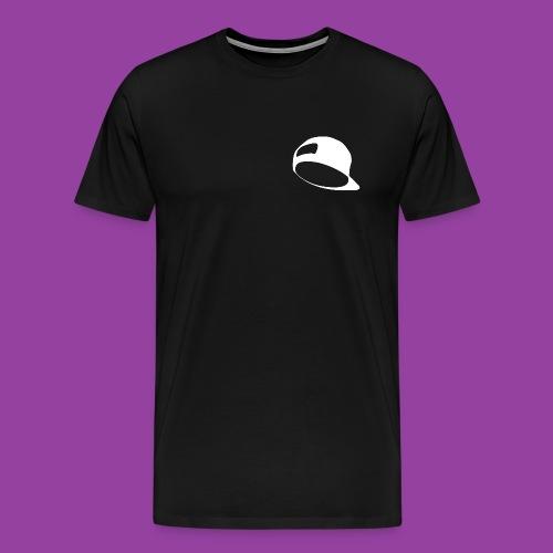 Men's Premium Black T-Shirt (White Hat Logo) - Men's Premium T-Shirt