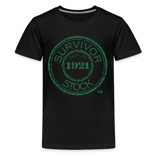 Youth Survivor Stock Green Stamp Tee  - Kids' Premium T-Shirt