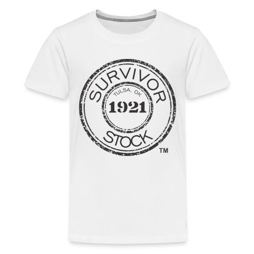Youth Survivor Stock Black Stamp Tee  - Kids' Premium T-Shirt