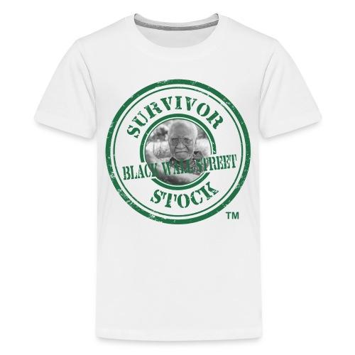 Men's Survivor Stock Stamp Tee Black - Kids' Premium T-Shirt