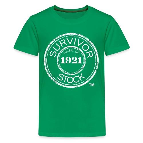 Youth Survivor Stock White Stamp Tee - Kids' Premium T-Shirt