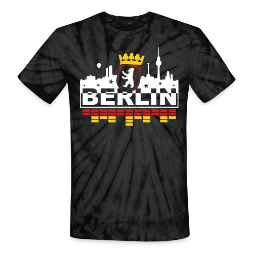 Berlin Bear Skyline - Unisex Tie Dye T-Shirt