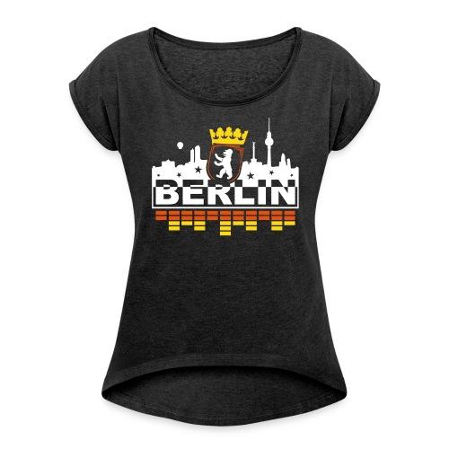 Berlin Bear Skyline - Women's Roll Cuff T-Shirt