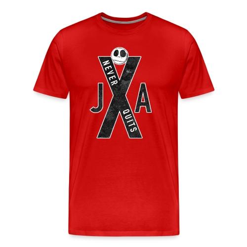 JAX NEVER QUITS LOGO TEE - Men's Premium T-Shirt