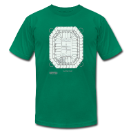 T-Shirts ~ Men's T-Shirt by American Apparel ~ Pontiac Silverdome Tribute Shirt