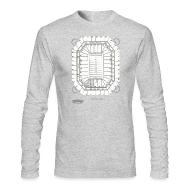 Long Sleeve Shirts ~ Men's Long Sleeve T-Shirt by Next Level ~ Pontiac Silverdome Tribute Shirt
