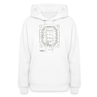 Hoodies ~ Women's Hoodie ~ Pontiac Silverdome Tribute Shirt