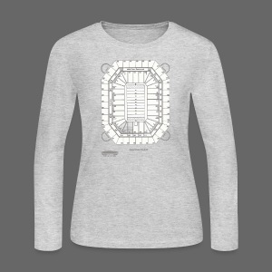 Pontiac Silverdome Tribute Shirt - Women's Long Sleeve Jersey T-Shirt