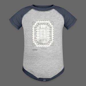 Pontiac Silverdome Tribute Shirt - Baby Contrast One Piece