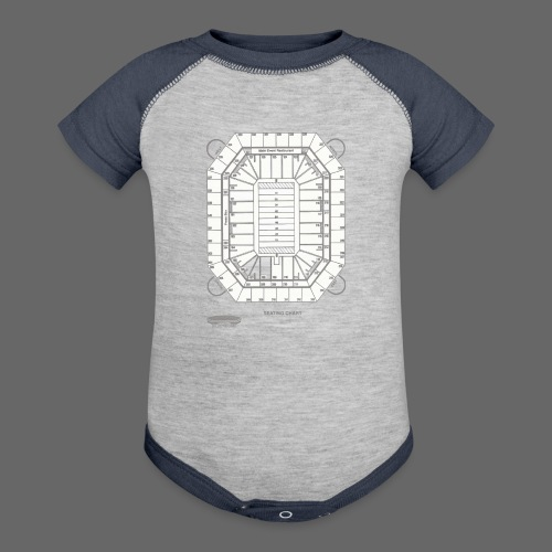 Pontiac Silverdome Tribute Shirt - Baby Contrast One Piece