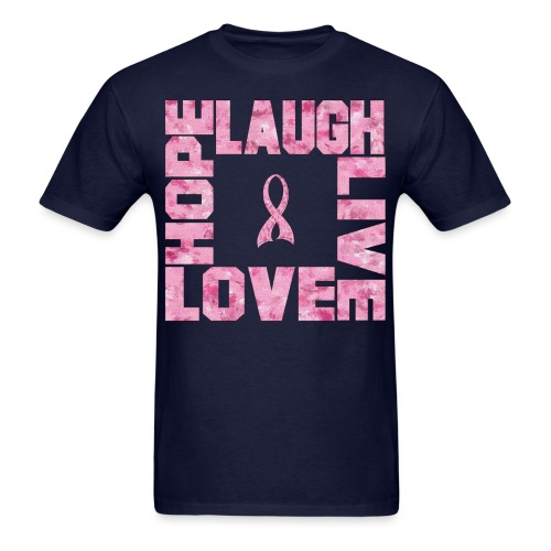 LOVE HOPE LAUGH LIVE PINK TEE - Men's T-Shirt