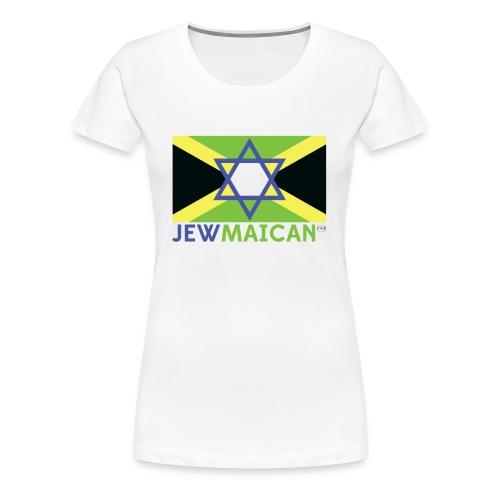 Women's White Jewmaican T-shirt - Women's Premium T-Shirt
