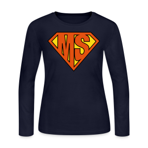 MS Superhero - Women's Long Sleeve - Women's Long Sleeve Jersey T-Shirt