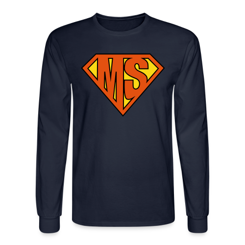 MS Superhero - Men's Long Sleeve - Men's Long Sleeve T-Shirt