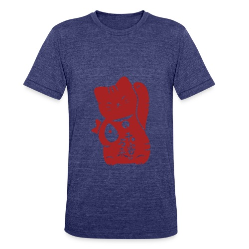 lucky cat 77 - Unisex Tri-Blend T-Shirt