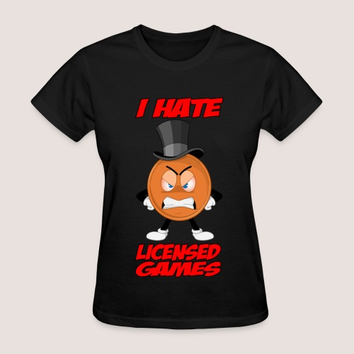 Women's Angry Penny Tee, w/ Text - Women's T-Shirt