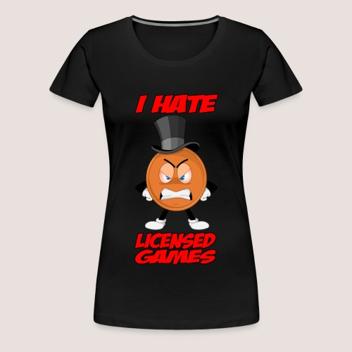 Women's Plus Size Angry Penny Tee, w/ Text - Women's Premium T-Shirt