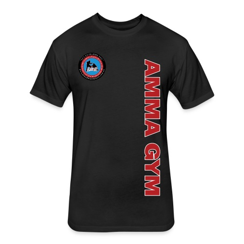 Fitted AMMA Gym T-Shirt - Fitted Cotton/Poly T-Shirt by Next Level